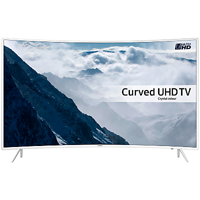 "Samsung UE49KU6510 Curved HDR 4K Ultra HD Smart TV, 49"" with Freeview HD/Freesat HD, Playstation Now & Active Crystal Colour, White"