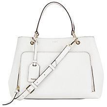 Buy DKNY Bryant Park Saffiano Leather Satchel, Winter White Online at johnlewis.com