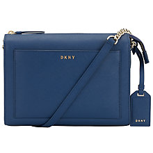 Buy DKNY Bryant Park Saffiano Leather Across Body Bag, Ink Online at johnlewis.com