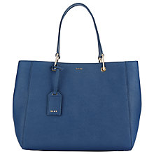 Buy DKNY Bryant Park Saffiano Leather Tote Bag, Ink Online at johnlewis.com