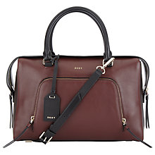 Buy DKNY Greenwich Smooth Calf Leather Satchel, Multi Online at johnlewis.com
