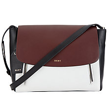 Buy DKNY Greenwich Smooth Calf Leather Small Messenger Bag, Multi Online at johnlewis.com
