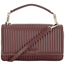 Buy DKNY Gansvoort Leather Flap Shoulder Bag Online at johnlewis.com