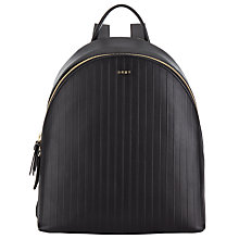 Buy DKNY Gansvoort Leather Backpack, Black Online at johnlewis.com