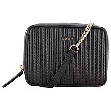 Buy DKNY Gansvoort Small Square Leather Across Body Bag, Black Online at johnlewis.com
