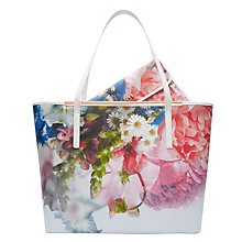 Buy Ted Baker Floryia Shopper Bag, Blue Online at johnlewis.com