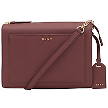 Buy DKNY Bryant Park Saffiano Leather Box Across Body Bag, Oxblood Online at johnlewis.com