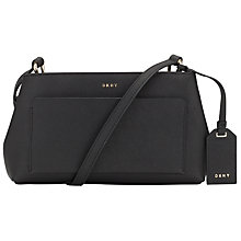 Buy DKNY Bryant Park Saffiano Leather Mini Across Body Bag, Black Online at johnlewis.com