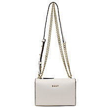 Buy DKNY Bryant Park Saffiano Square Across Body Bag, Winter Cream Online at johnlewis.com