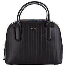 Buy DKNY Gansvoort Small Leather Satchel, Black Online at johnlewis.com