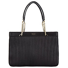 Buy DKNY Gansvoort Leather Shopper Bag, Black Online at johnlewis.com