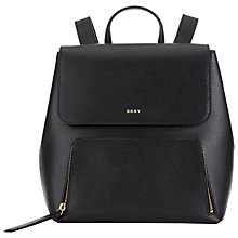 Buy DKNY Bryant Park Saffiano Leather Backpack, Black Online at johnlewis.com