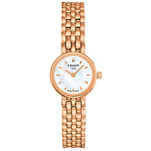 Buy Tissot T0580093311100 Women's Lovely Bracelet Strap Watch, Rose Gold/White Online at johnlewis.com
