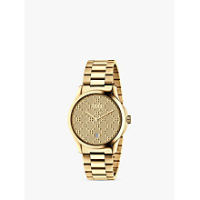 Buy Gucci YA126461 Unisex G-Timeless Date Bracelet Strap Watch, Gold Online at johnlewis.com