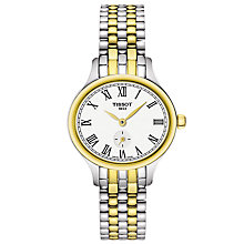 Buy Tissot T1031102203300 Women's Bella Ora Piccola Two Tone Bracelet Strap Watch, Silver/Gold Online at johnlewis.com