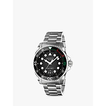 Buy Gucci YA136208 Unisex Dive Stainless Steel Bracelet Strap Watch, Steel Online at johnlewis.com