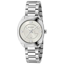 Buy Gucci YA142502 Women's GG2570 Date Bracelet Strap Watch, Silver Online at johnlewis.com