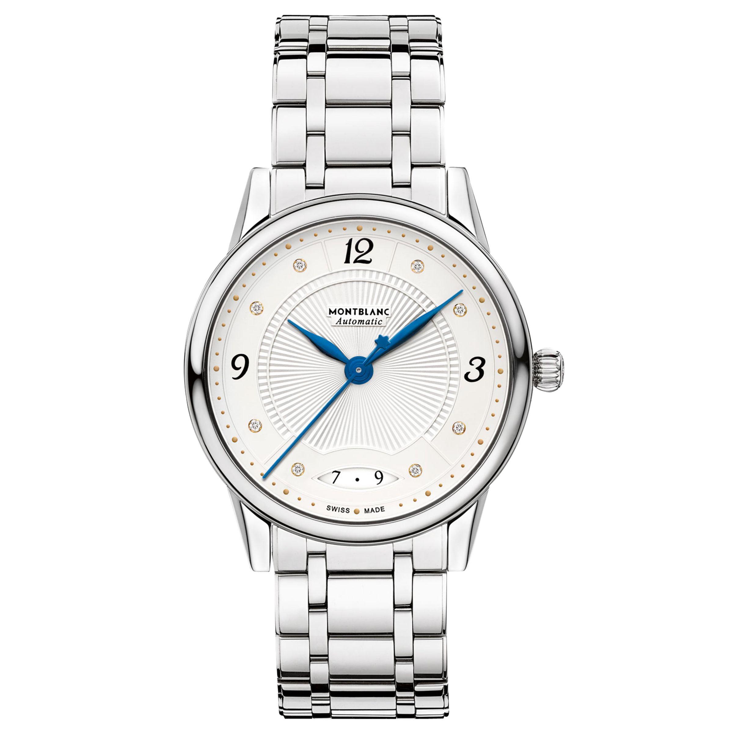Montblanc Montblanc Women's 114733 Bohème Date Automatic Bracelet Strap Watch, Steel/White