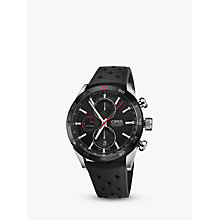 Buy Oris 774 7661 4424-07 4 22 25FC Men's Artix GT Chronograph Date Automatic Rubber Strap Watch, Black Online at johnlewis.com