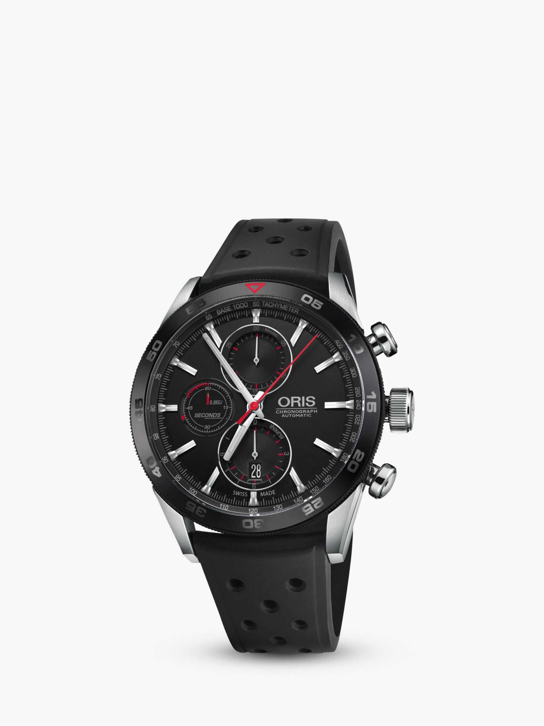 Oris Oris 774 7661 4424-07 4 22 25FC Men's Artix GT Chronograph Date Automatic Rubber Strap Watch, Black