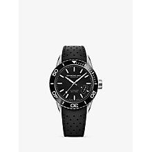 Buy Raymond Weil 2760-SR1-20001 Men's Freelancer Automatic Date Rubber Strap Watch, Black Online at johnlewis.com