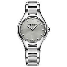 Buy Raymond Weil 5132-ST-65081 Women's Noemia Diamond Bracelet Strap Watch, Silver Online at johnlewis.com