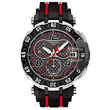 Buy Tissot T0924172720700 Men's T-Race MotoGP 2016 Chronograph Date Rubber Strap Watch, Black Online at johnlewis.com