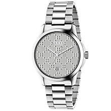 Buy Gucci YA126459 Unisex G-Timeless Date Bracelet Strap Watch, Steel Online at johnlewis.com