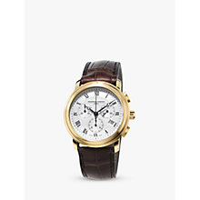Buy Frédérique Constant FC-292MC4P5 Men's Classics Chronograph Leather Strap Watch, Brown Online at johnlewis.com