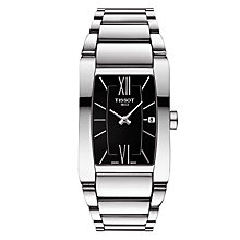 Buy Tissot T1053091105800 Women's Generosi-T Date Bracelet Strap Watch, Silver/Black Online at johnlewis.com