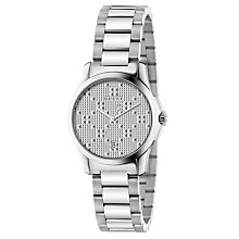 Buy Gucci YA126551 Women's G-Timeless Date Bracelet Strap Watch, Steel Online at johnlewis.com