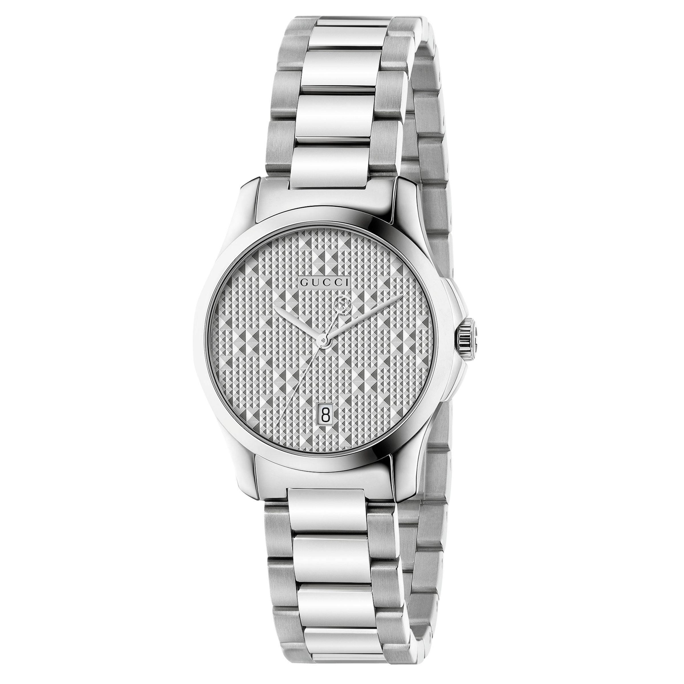 Buy Gucci YA126551 Women's G-Timeless Date Bracelet Strap Watch, Steel Online at johnlewis.com