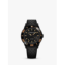 Buy Raymond Weil 2760-SB2-20001 Men's Freelancer Date Rubber Strap Watch, Black Online at johnlewis.com