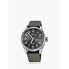 Buy Oris 752 7698 4063-07 5 22 17FC Men's Big Crown Pro Pilot Automatic Date Day Fabric Strap Watch, Grey Online at johnlewis.com