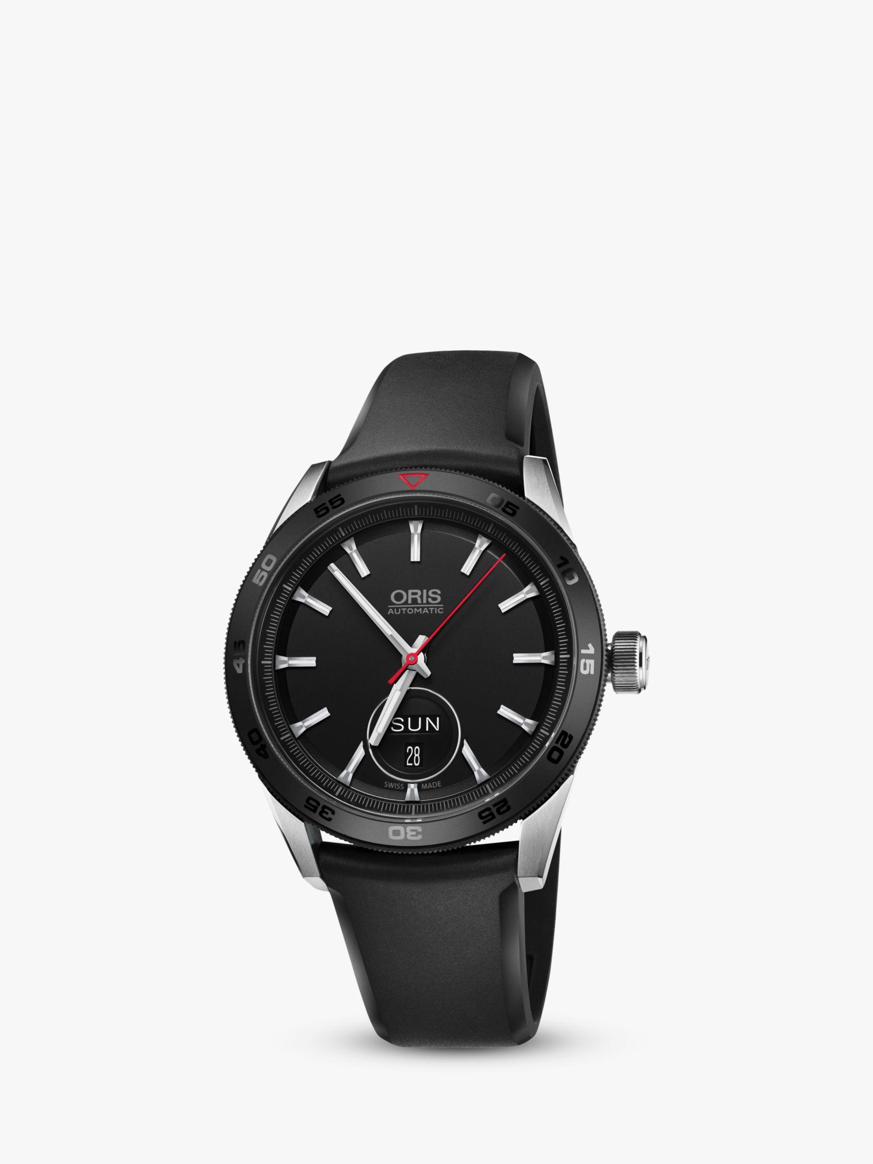 Oris Oris 735 7662 4424-07 4 21 25FC Men's Artix GT Automatic Day Date Rubber Strap Watch, Black