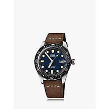 Buy Oris 733 7720 4055-07 5 21 02 Men's Artelier Automatic Date Fabric Strap Watch, Brown/Navy Online at johnlewis.com