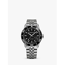 Buy Raymond Weil 2760-ST1-20001 Men's Freelancer Automatic Date Bracelet Strap Watch, Silver/Black Online at johnlewis.com
