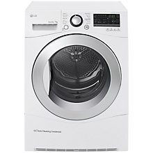 Buy LG RC7055AH2M Freestanding Heat Pump Condenser Tumble Dryer, 7kg Load, A++ Energy Rating, White Online at johnlewis.com