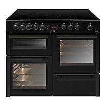 Buy Beko BDVC100K Electric Range Cooker, Black Online at johnlewis.com