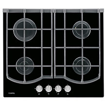 Buy AEG HG653430NB Gas Hob, Black Online at johnlewis.com