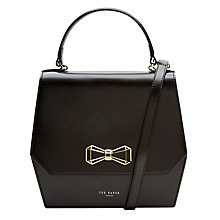 Buy Ted Baker Gerri Bow Leather Top Handle Bag Online at johnlewis.com