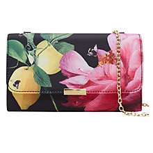 Buy Ted Baker Kaylor Citrus Clutch Bag, Black Online at johnlewis.com