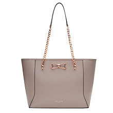 Buy Ted Baker Jalie Bow Leather Shopper Bag Online at johnlewis.com