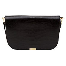 Buy Ted Baker Melaney Exotic Leather Shoulder Bag, Black Online at johnlewis.com