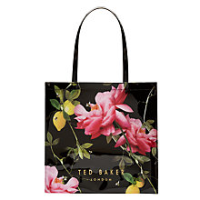 Buy Ted Baker Lemcon Citrus Large Icon Shopper Bag, Black Online at johnlewis.com