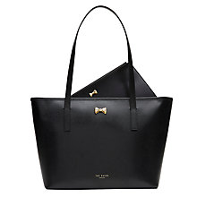 Buy Ted Baker Anaiya Bow Small Leather Shopper Bag Online at johnlewis.com