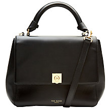Buy Ted Baker Chantel Large Leather Tote Bag, Black Online at johnlewis.com