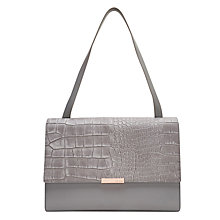 Buy Ted Baker Lowri Exotic Leather Shoulder Bag Online at johnlewis.com