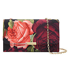 Buy Ted Baker Wynnie Rose Clutch Bag, Grape Online at johnlewis.com