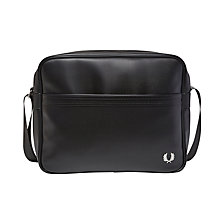 Buy Fred Perry Textured Shoulder Bag, Black Online at johnlewis.com